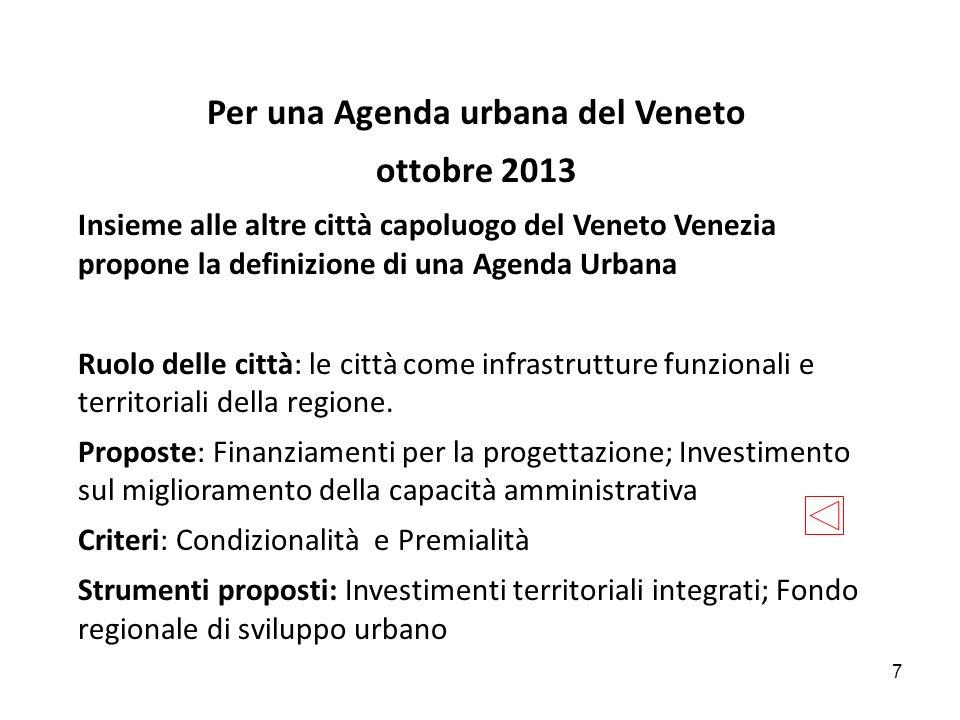 Per una Agenda urbana del Veneto