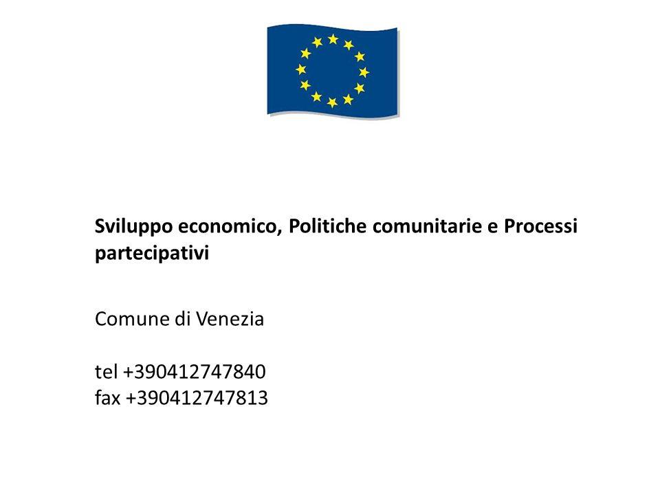 Sviluppo economico, Politiche comunitarie e Processi partecipativi
