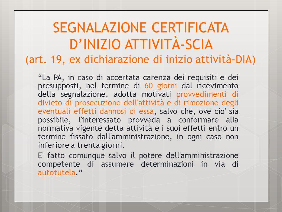 SEGNALAZIONE CERTIFICATA D'INIZIO ATTIVITÀ-SCIA (art