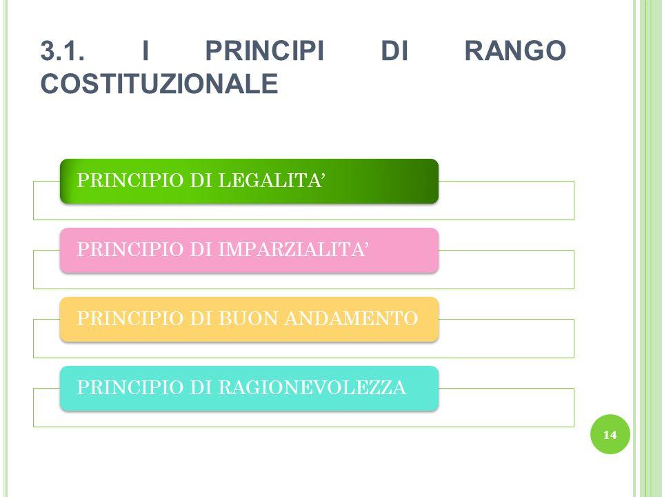 3.1. I PRINCIPI DI RANGO COSTITUZIONALE