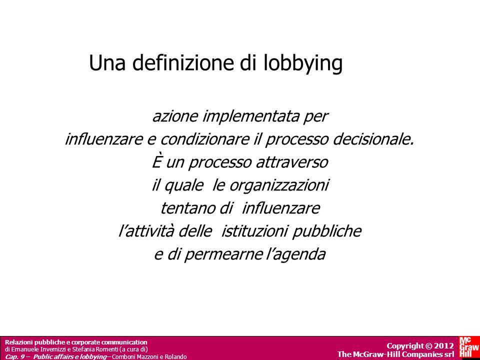 Una definizione di lobbying