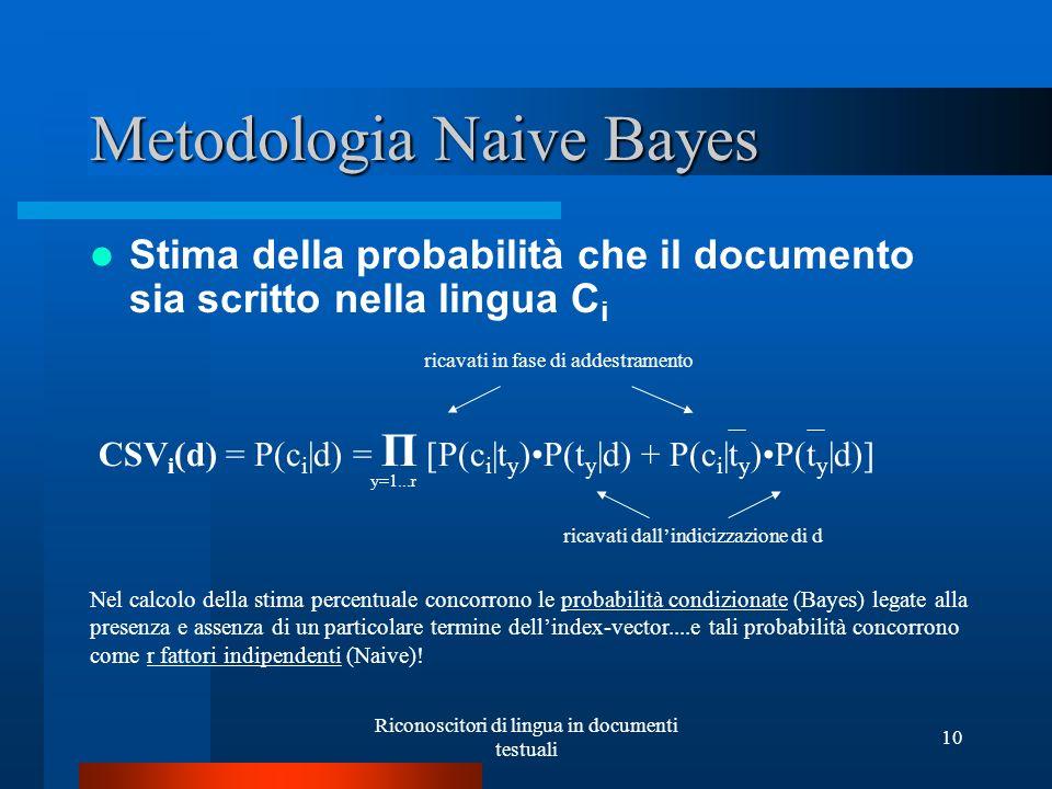 Metodologia Naive Bayes