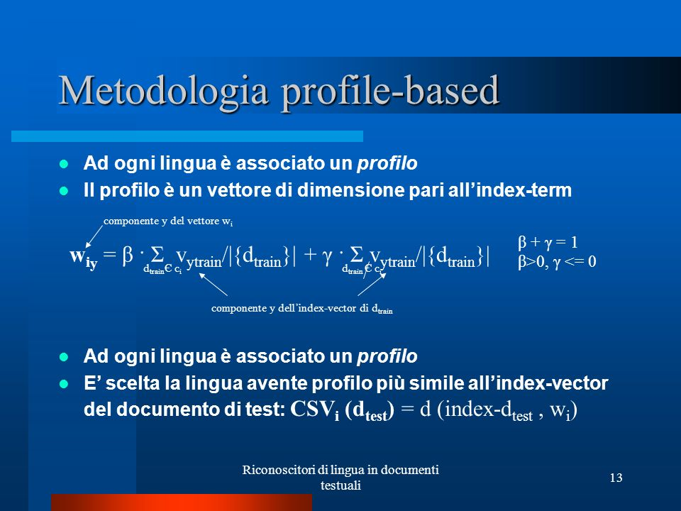 Metodologia profile-based