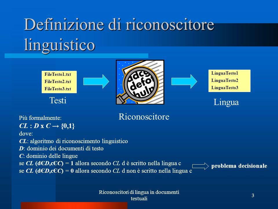 Definizione di riconoscitore linguistico