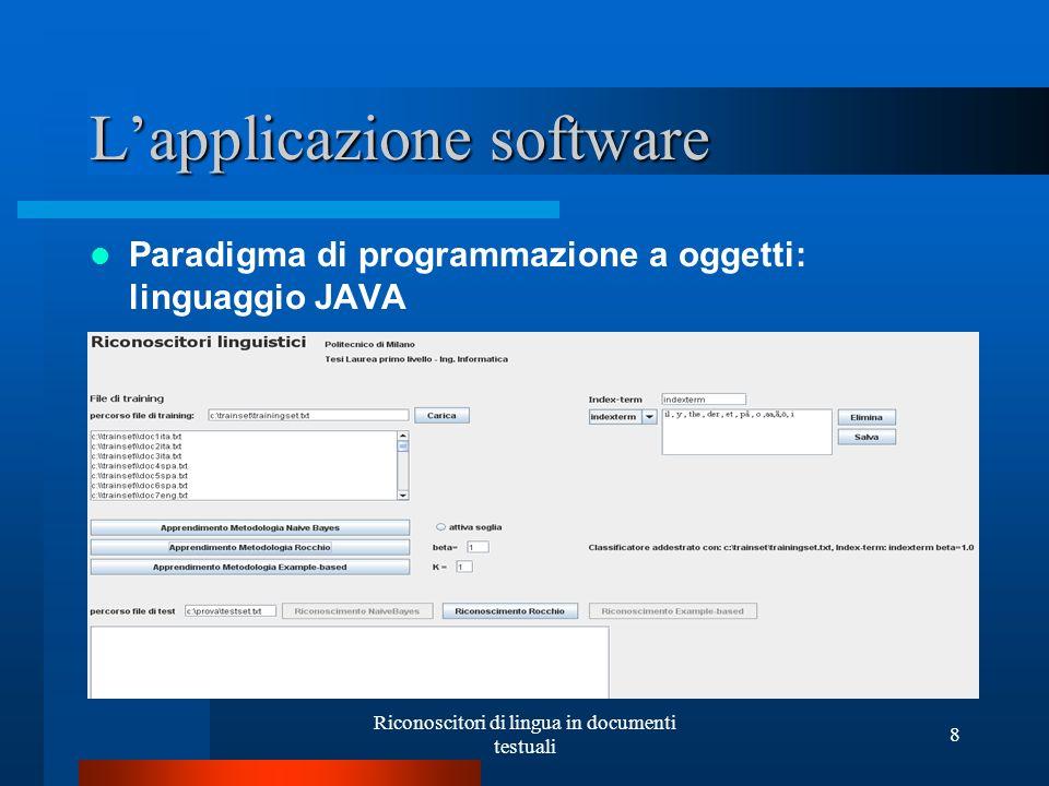 L'applicazione software