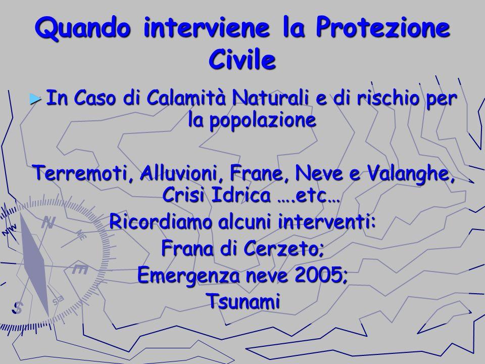 Quando interviene la Protezione Civile