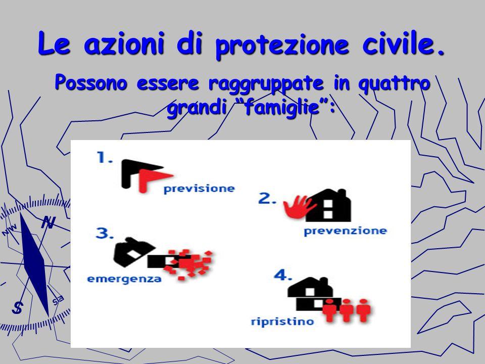 Le azioni di protezione civile.