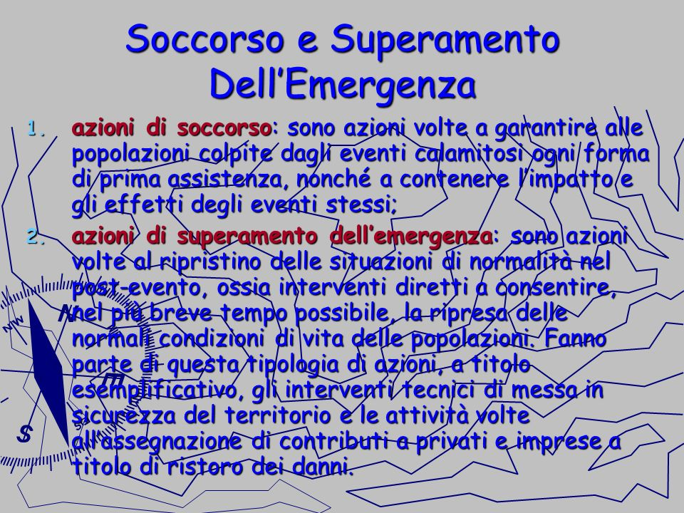 Soccorso e Superamento Dell'Emergenza