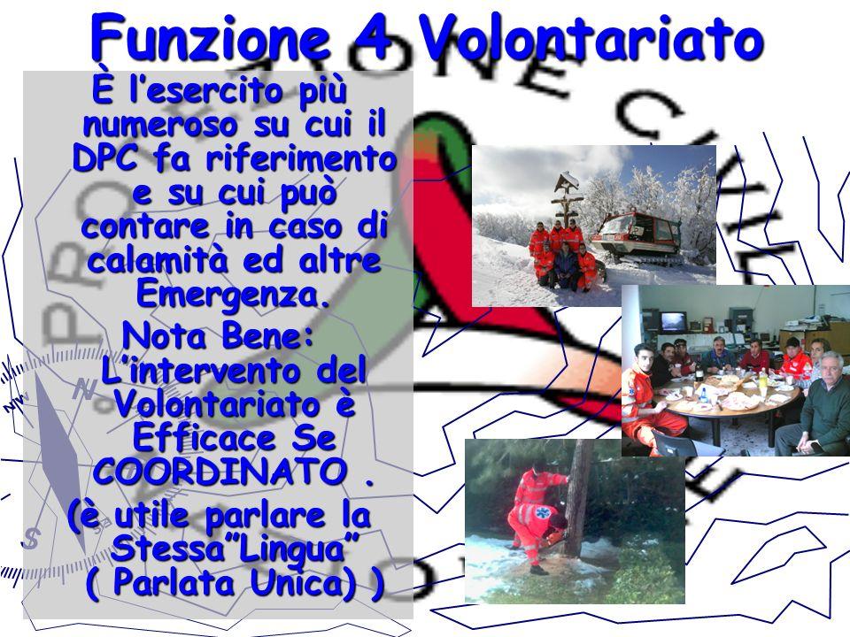 Funzione 4 Volontariato