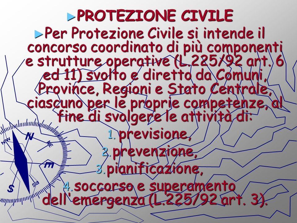 soccorso e superamento dell emergenza (L.225/92 art. 3).