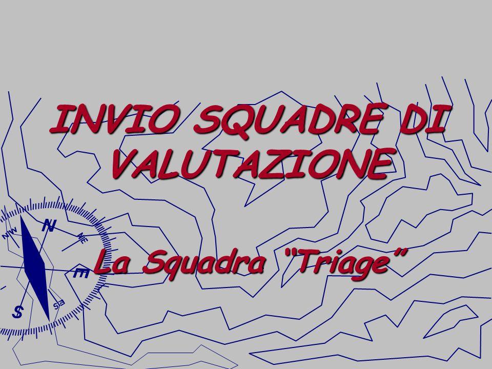 INVIO SQUADRE DI VALUTAZIONE