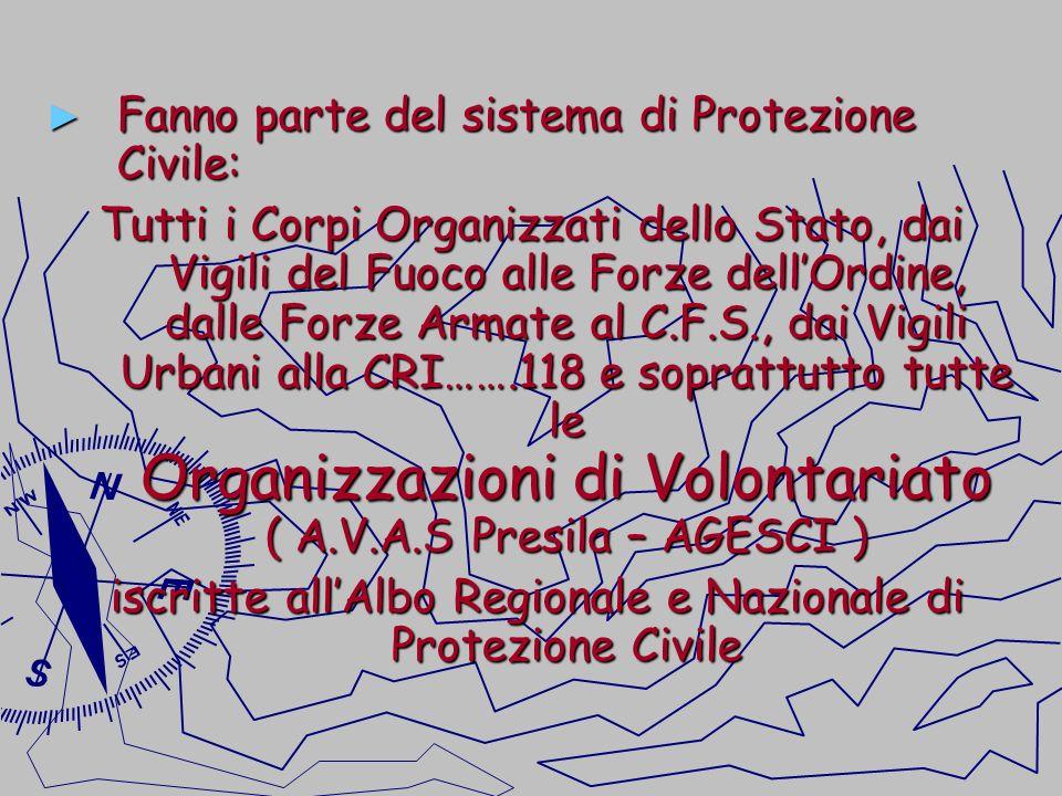 iscritte all'Albo Regionale e Nazionale di Protezione Civile