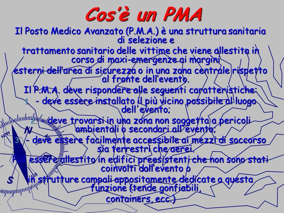 Cos'è un PMA Il Posto Medico Avanzato (P.M.A.) è una struttura sanitaria di selezione e.
