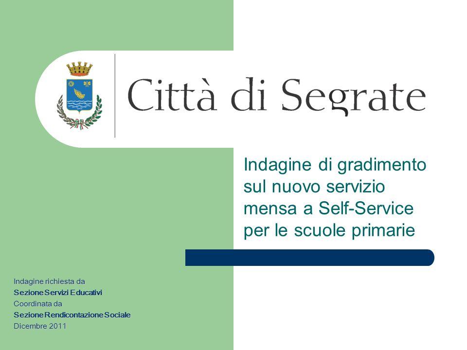 Indagine di gradimento sul nuovo servizio mensa a Self-Service per le scuole primarie
