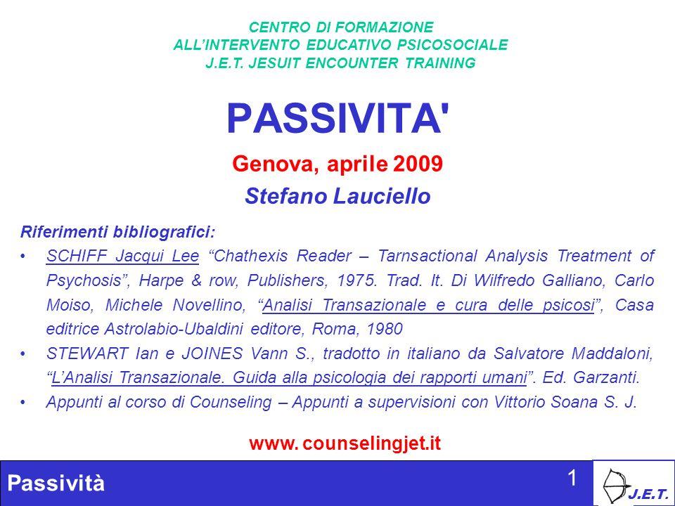 PASSIVITA Genova, aprile 2009 Stefano Lauciello