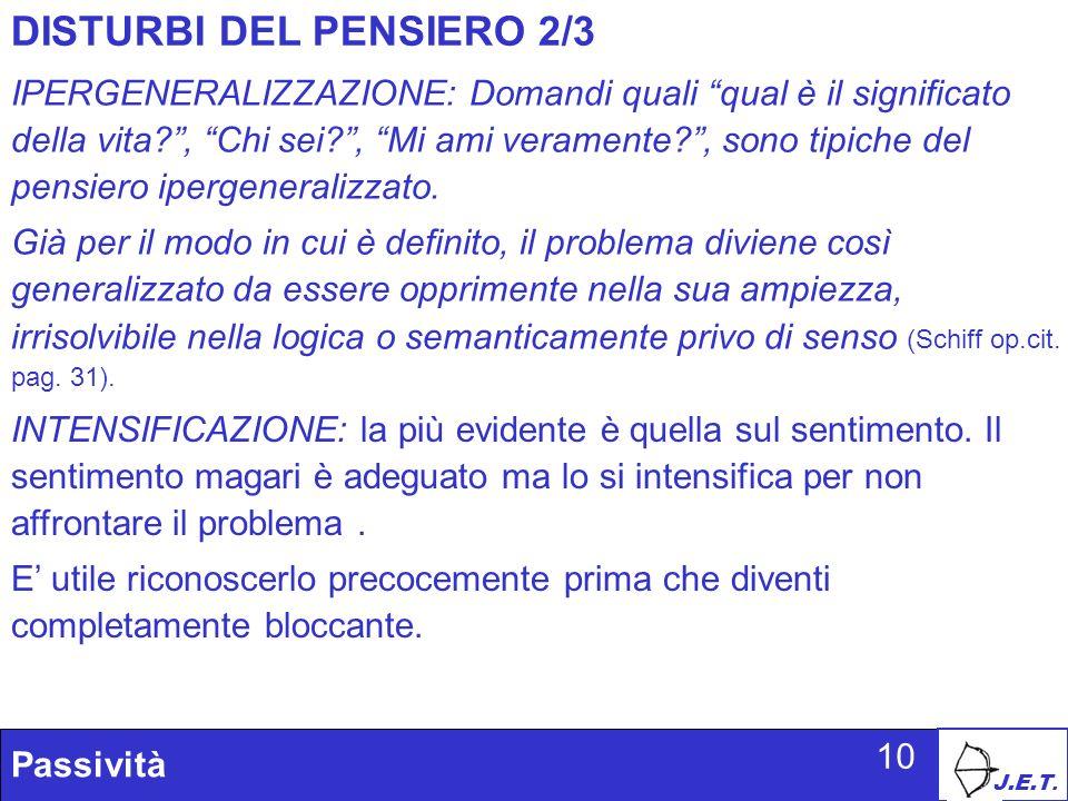 DISTURBI DEL PENSIERO 2/3