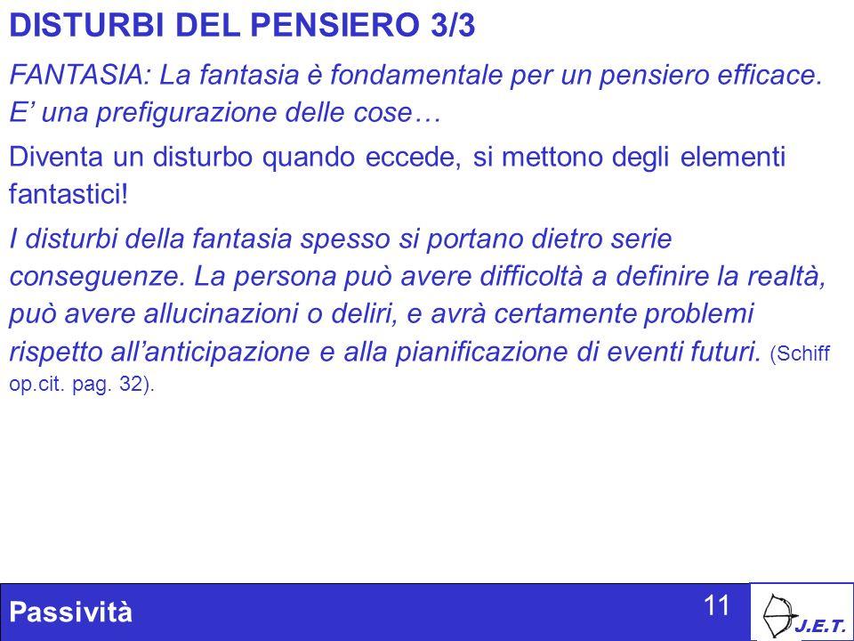 DISTURBI DEL PENSIERO 3/3