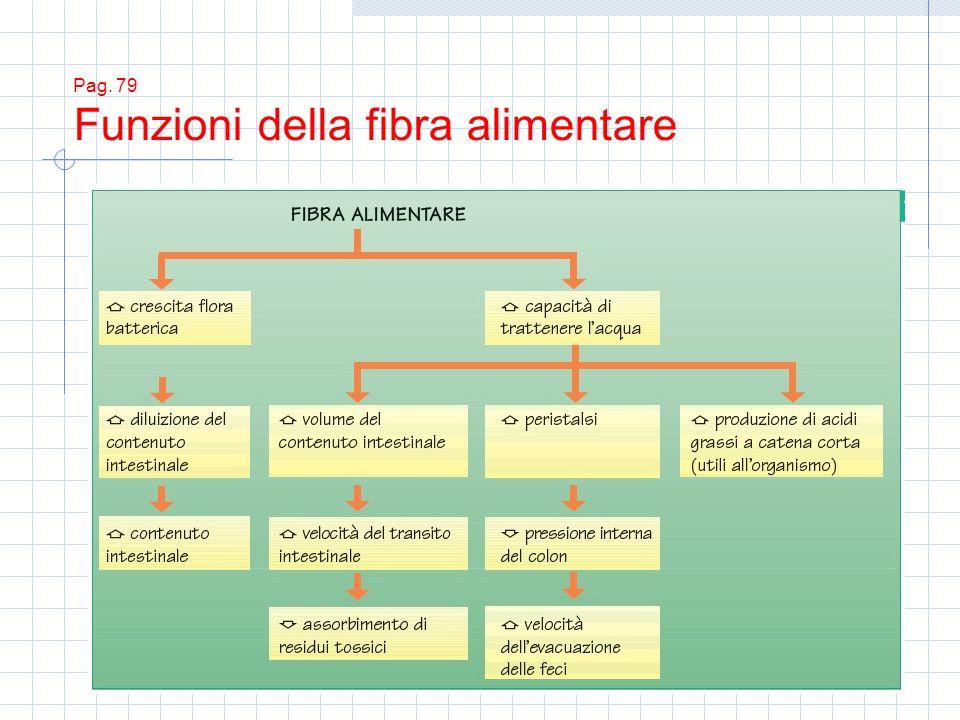 Pag. 79 Funzioni della fibra alimentare