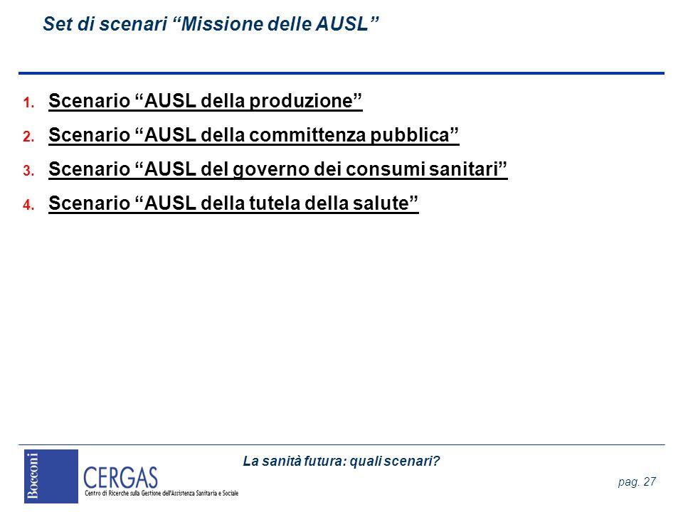 Set di scenari Missione delle AUSL