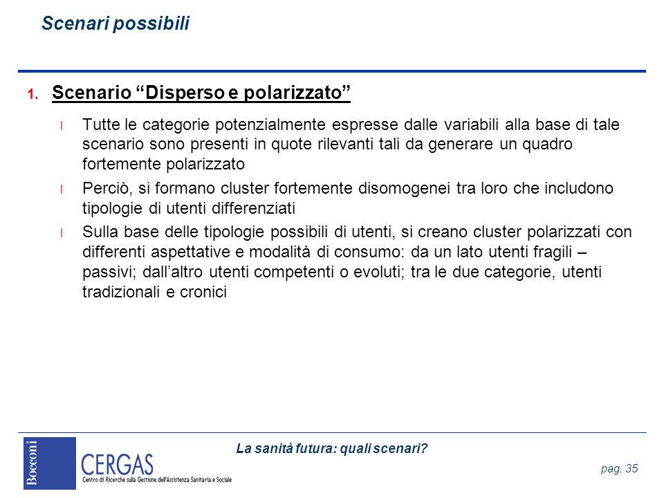 Scenario Disperso e polarizzato