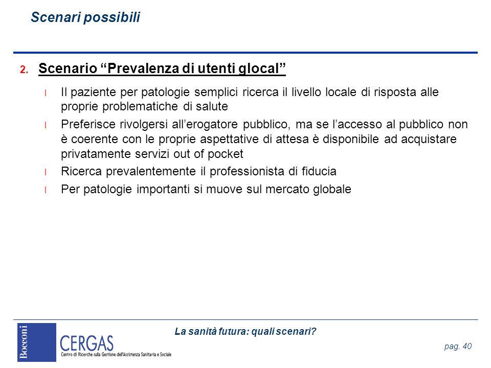 Scenario Prevalenza di utenti glocal