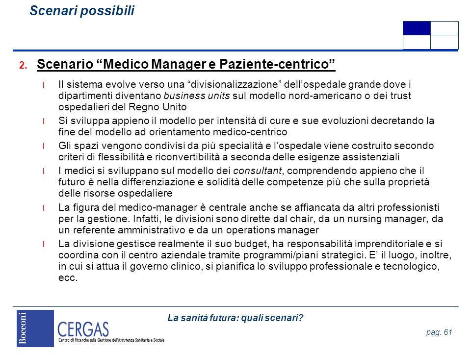 Scenario Medico Manager e Paziente-centrico