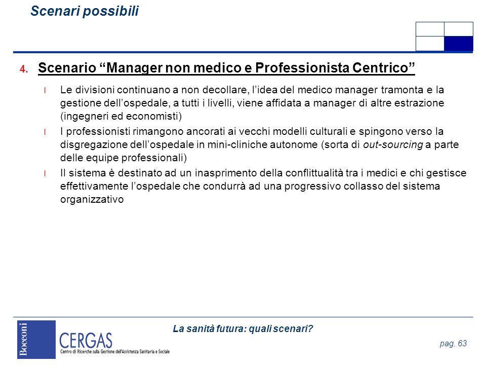 Scenario Manager non medico e Professionista Centrico