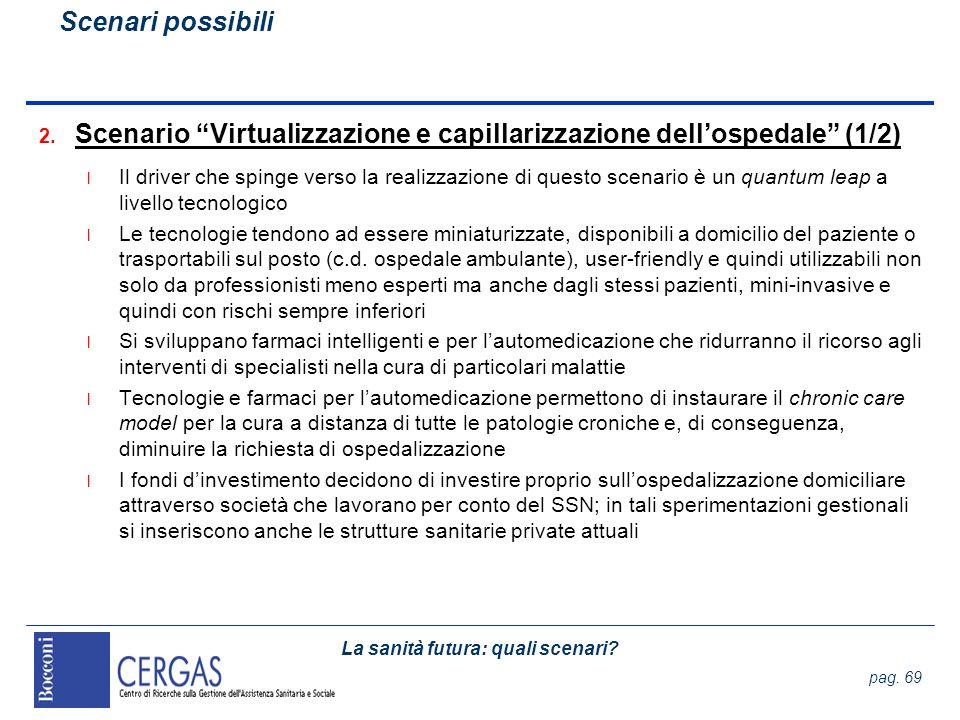 Scenario Virtualizzazione e capillarizzazione dell'ospedale (1/2)