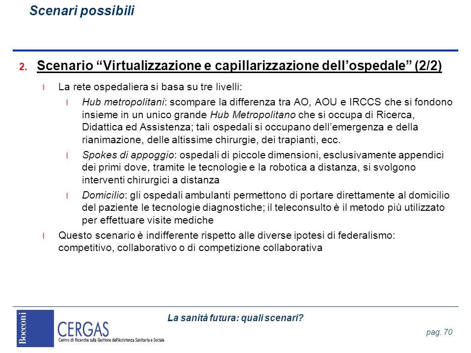 Scenario Virtualizzazione e capillarizzazione dell'ospedale (2/2)