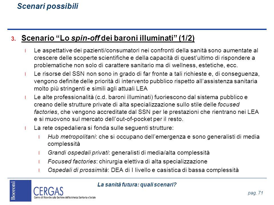 Scenario Lo spin-off dei baroni illuminati (1/2)