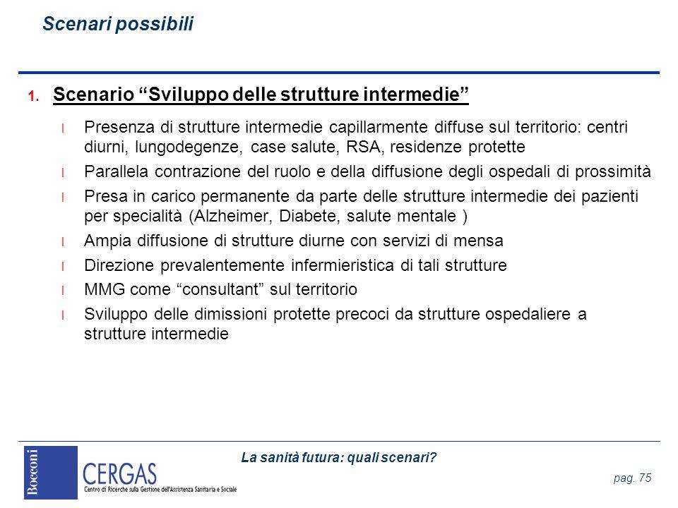 Scenario Sviluppo delle strutture intermedie