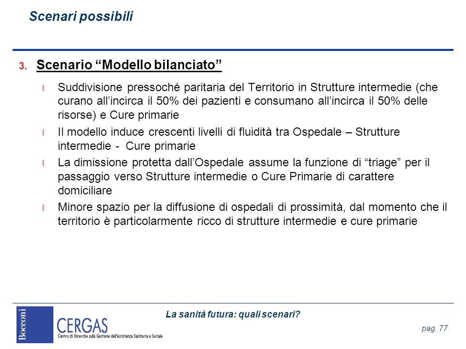 Scenario Modello bilanciato