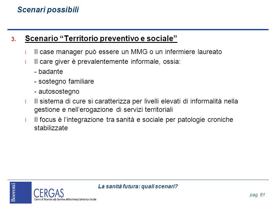 Scenario Territorio preventivo e sociale