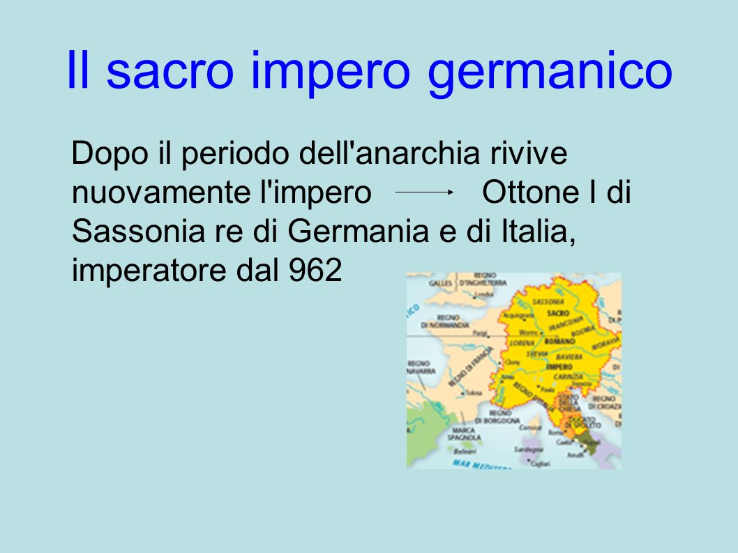 Il sacro impero germanico