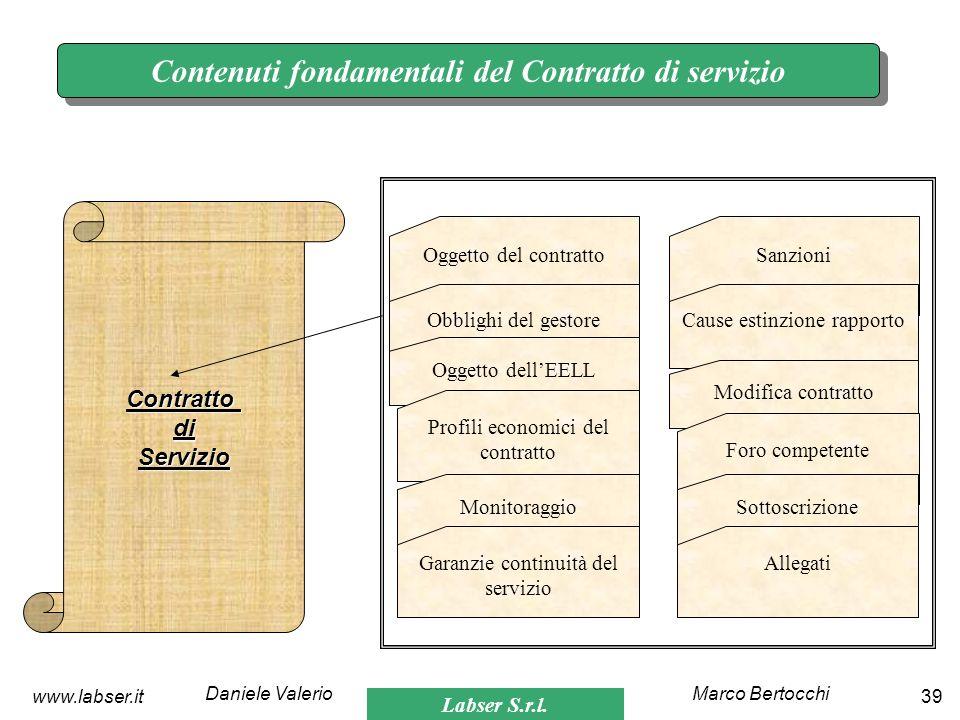 Contenuti fondamentali del Contratto di servizio