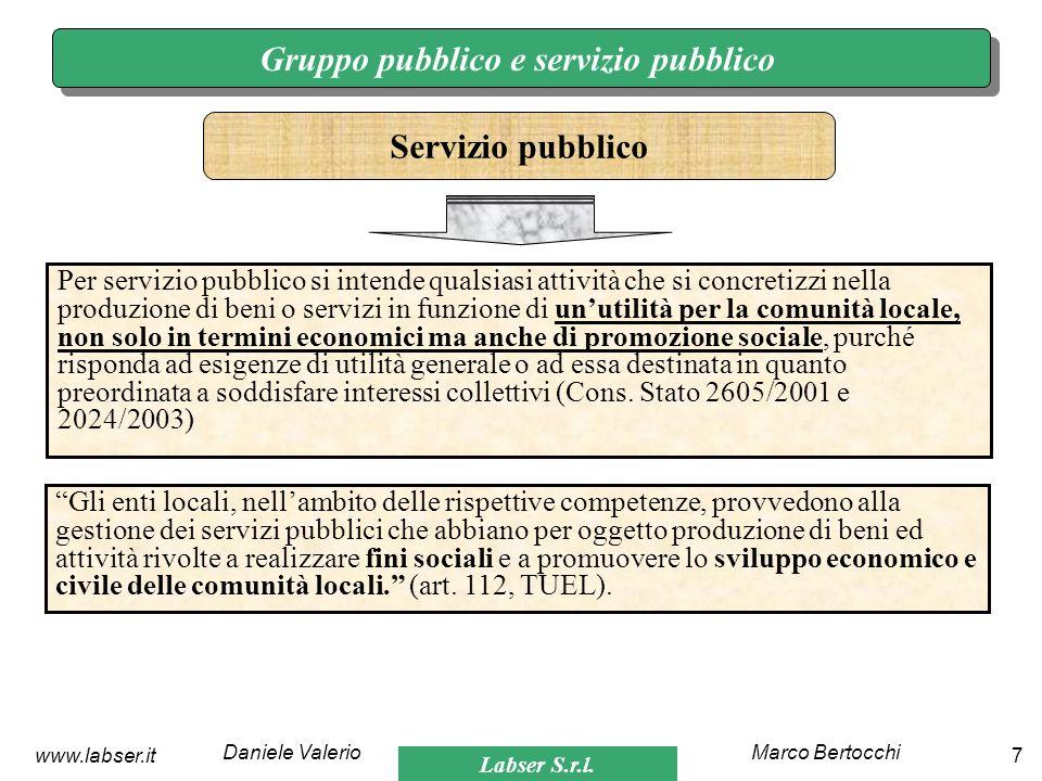Gruppo pubblico e servizio pubblico