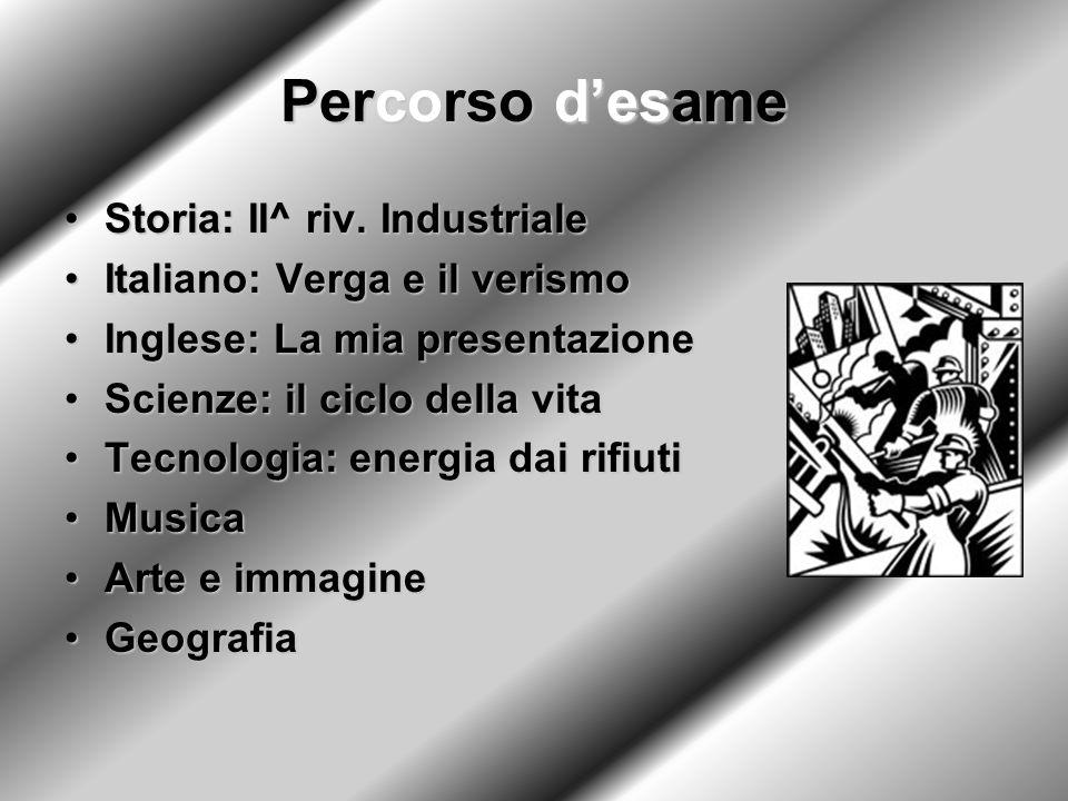 Percorso d'esame Storia: II^ riv. Industriale