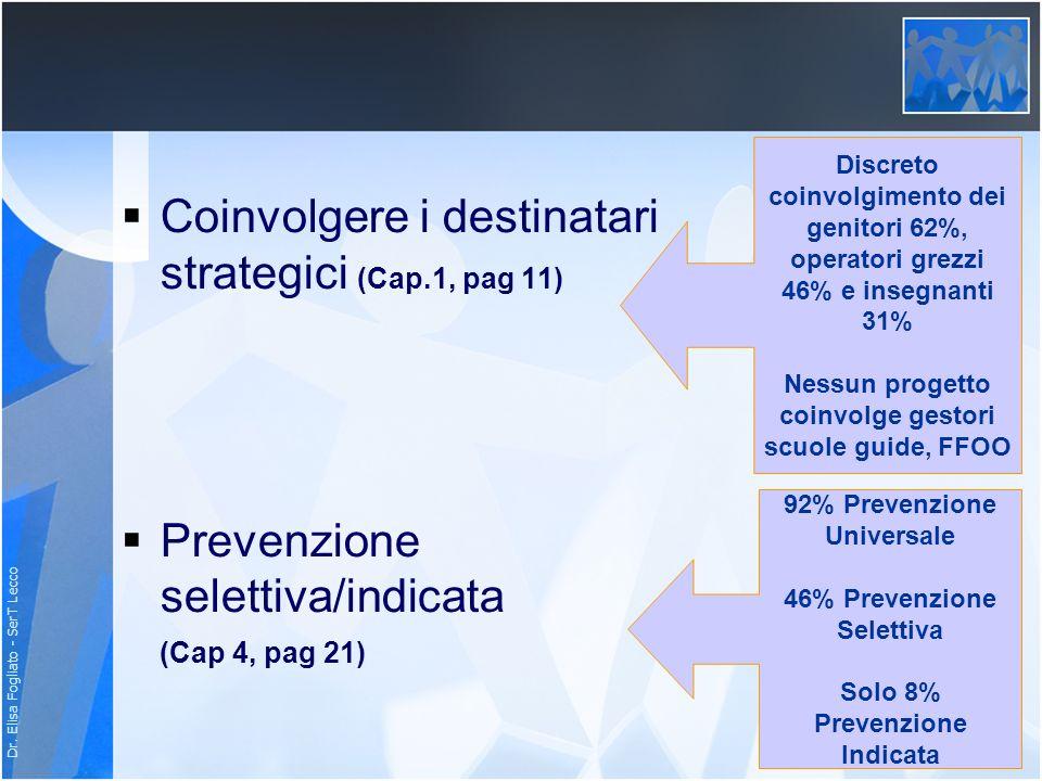 Coinvolgere i destinatari strategici (Cap.1, pag 11)