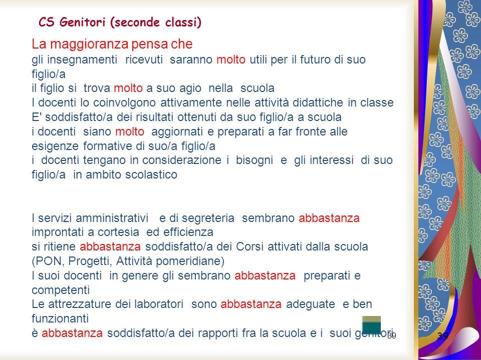 CS Genitori (seconde classi)