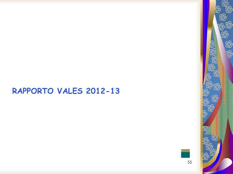 RAPPORTO VALES 2012-13
