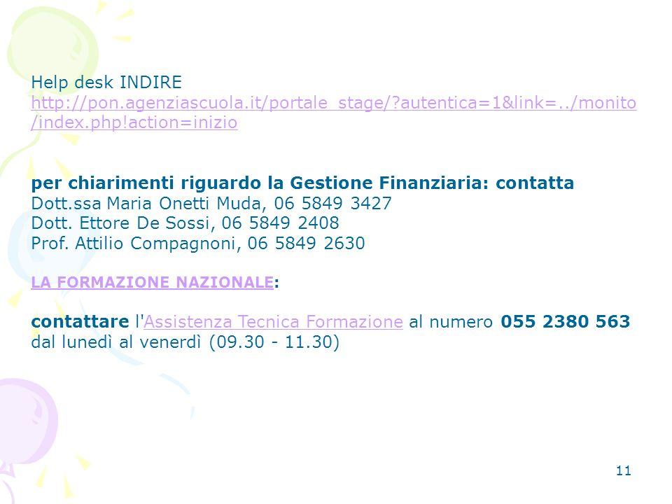 per chiarimenti riguardo la Gestione Finanziaria: contatta
