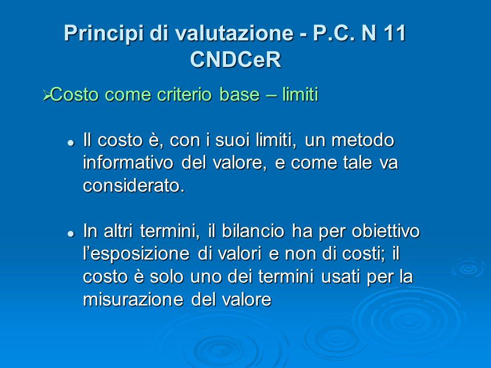 Principi di valutazione - P.C. N 11 CNDCeR