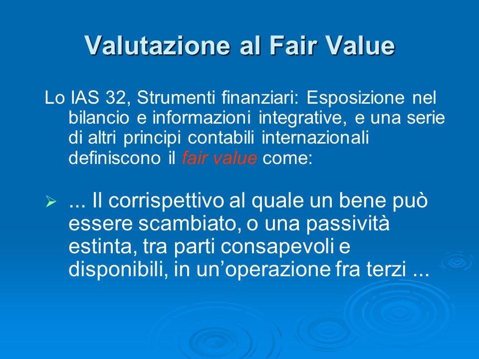 Valutazione al Fair Value