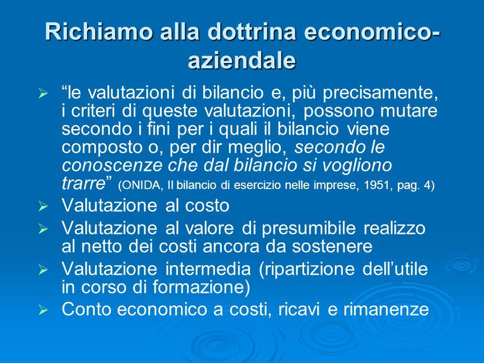 Richiamo alla dottrina economico-aziendale