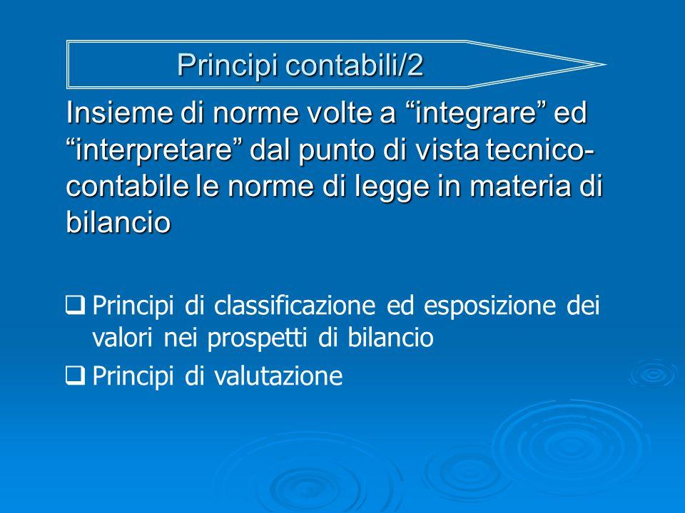 Principi contabili/2