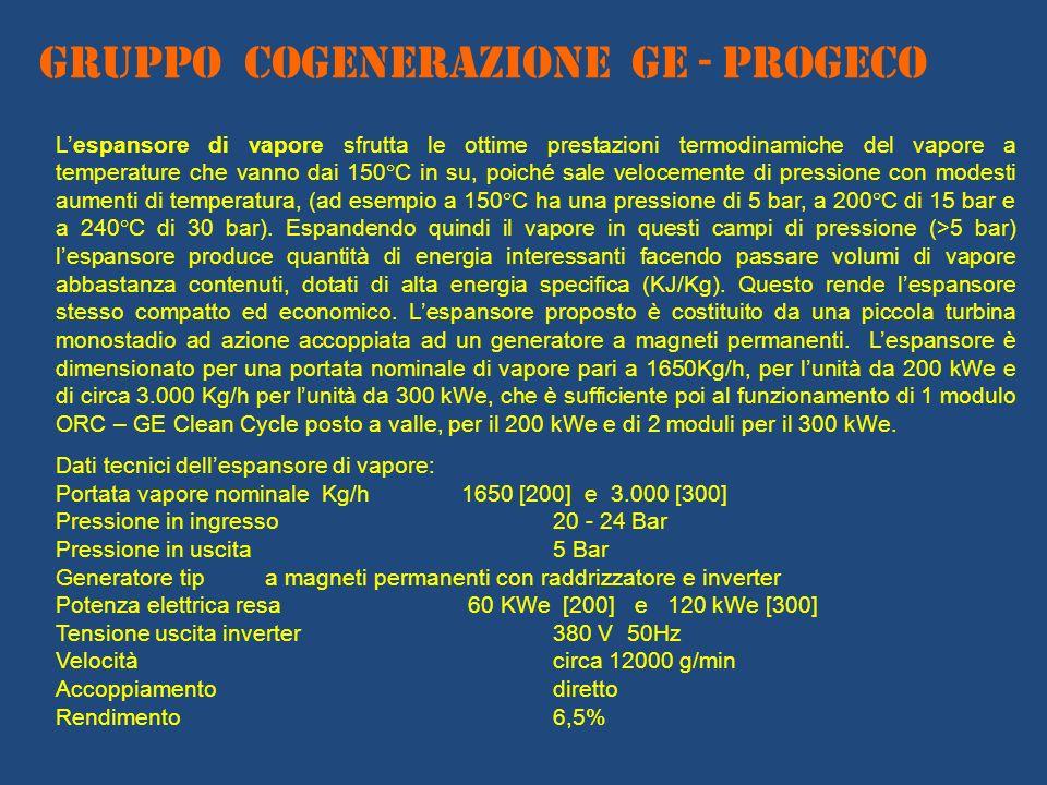 GRUPPO COGENERAZIONE ge - PROGECO