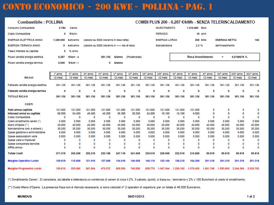 CONTO ECONOMICO - 200 kWe - POLLINA - Pag. 1
