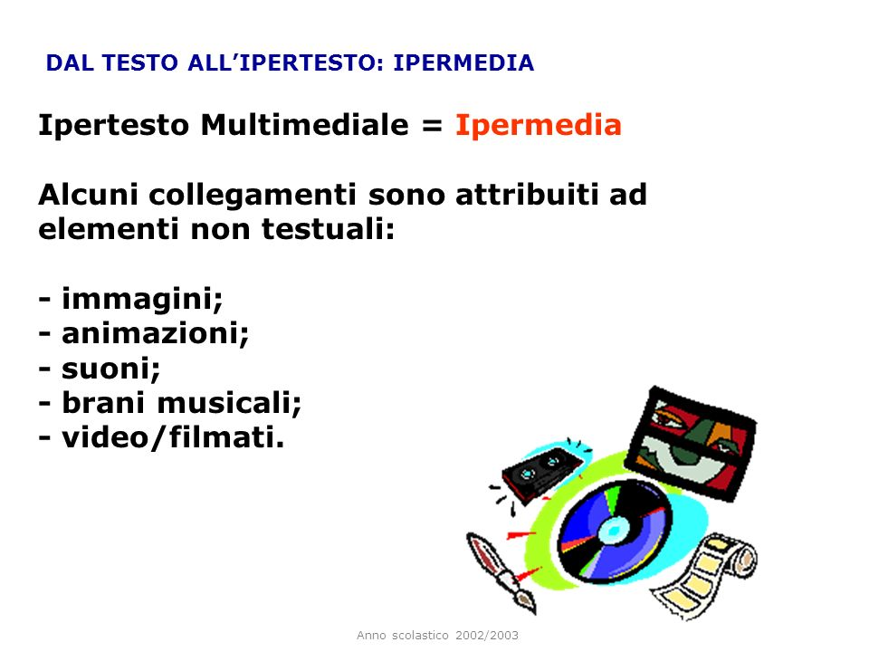 Ipertesto Multimediale = Ipermedia