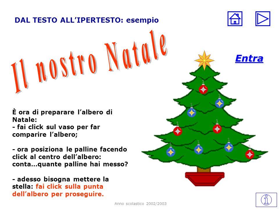 Il nostro Natale Entra DAL TESTO ALL'IPERTESTO: esempio