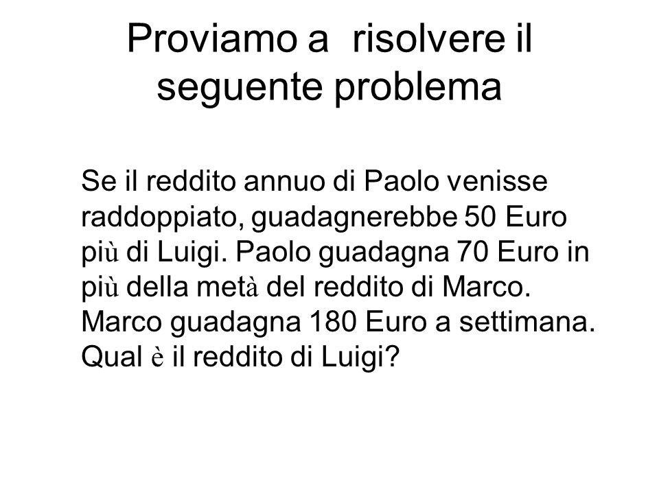 Proviamo a risolvere il seguente problema